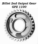 Billet 2nd Output Gear GPZ 1100