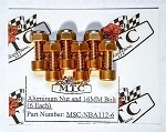 MTC Aluminum Nut and 16mm Bolt Kit (6)