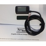 Square Digital Voltage Gauge with RPM