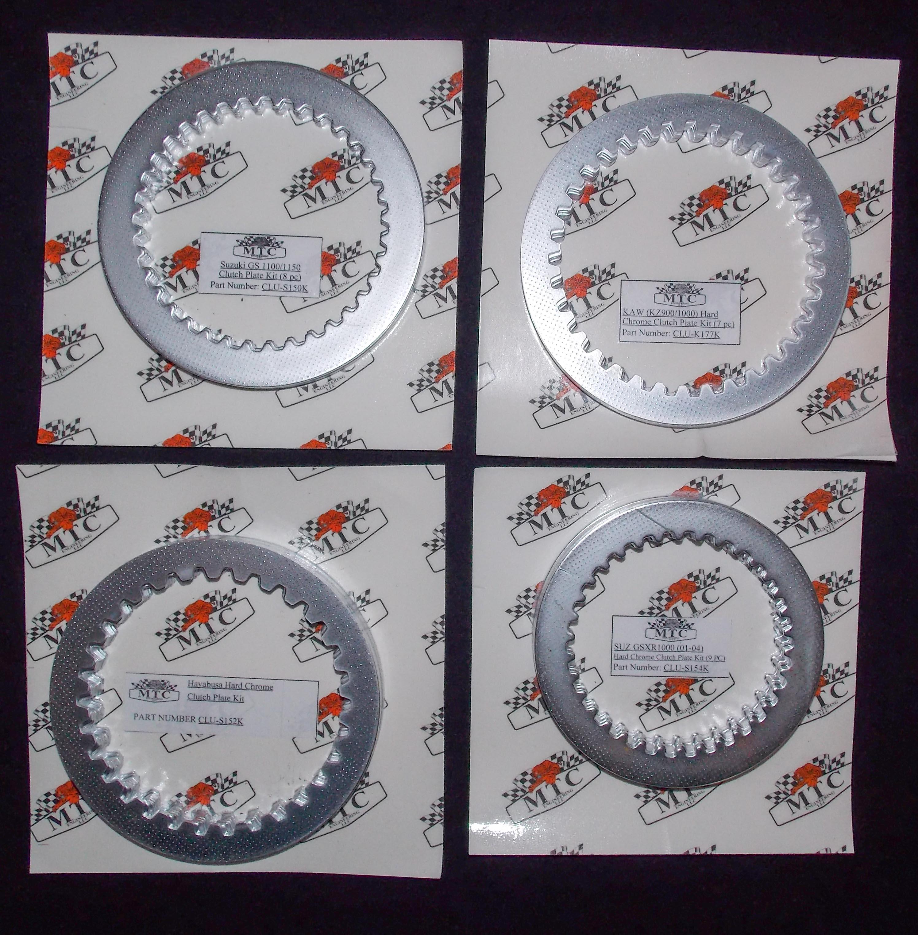 KAW (KZ900/1000) HARD CHROME CLUTCH PLATES