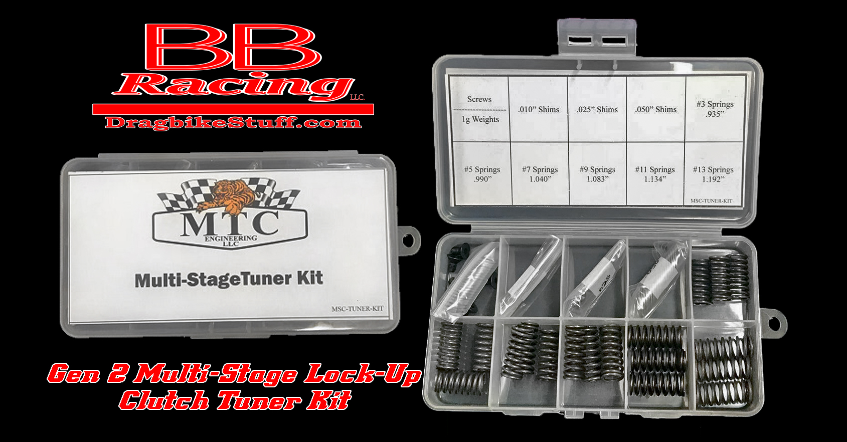 GEN II MULTI-STAGE TUNER KIT (SPRINGS, SHIMS, CLUTCH WEIGHT, ARM SCREWS)